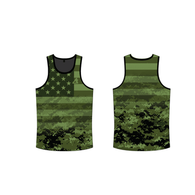 Digital Camo Tank Top-Green