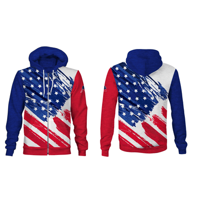 Liberty Unisex Zip Up Hooded Sweatshirt