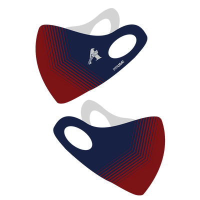 Red & Blue Olson Face Mask