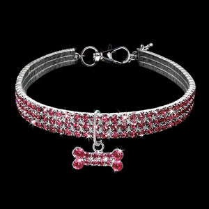 Collar de perro de cristal Bling exquisito