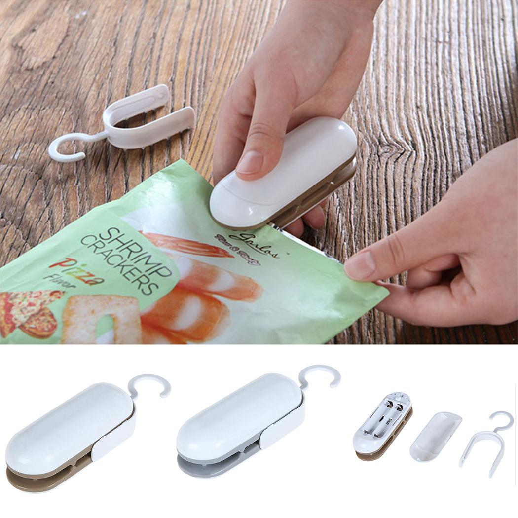 Mini Portable Handy Package Sealing Machines For Plastic Snacks Bags Heat Sealer Vacuum Resealer Kitchen Storage New Arrival