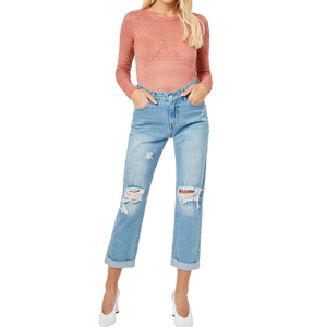 ESME DISTRESSED BOYFRIEND JEANS // FINAL SALE