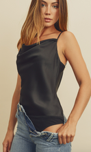 Load image into Gallery viewer, SATIN COWL NECK BODYSUIT