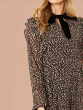 Load image into Gallery viewer, EVIE FLORAL VELVET TIE MINI