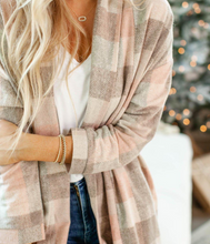 Load image into Gallery viewer, PLAID OPEN FRONT COAT // FINAL SALE
