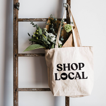 "Load image into Gallery viewer, ""SHOP LOCAL"" CANVAS BAG"