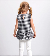 Load image into Gallery viewer, GINGHAM RUFFLE HEM TOP // TODDLER
