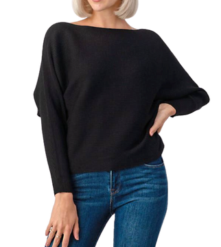 LENNON DOLMAN RIBBED SWEATER // 2 COLORS