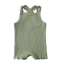 Load image into Gallery viewer, KAI RIBBED ROMPER // SAGE