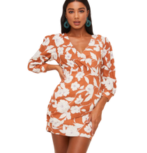 Load image into Gallery viewer, FLORAL SURPLICE WRAP MINI