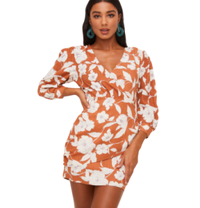 FLORAL SURPLICE WRAP MINI