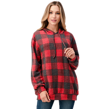 Load image into Gallery viewer, GINGHAM OVERSIZE HOODIE // TWO COLORS