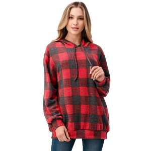 GINGHAM OVERSIZE HOODIE // TWO COLORS