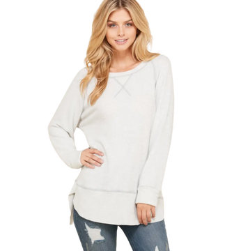 SUMMER BOAT NECK PULLOVER // 2 COLORS