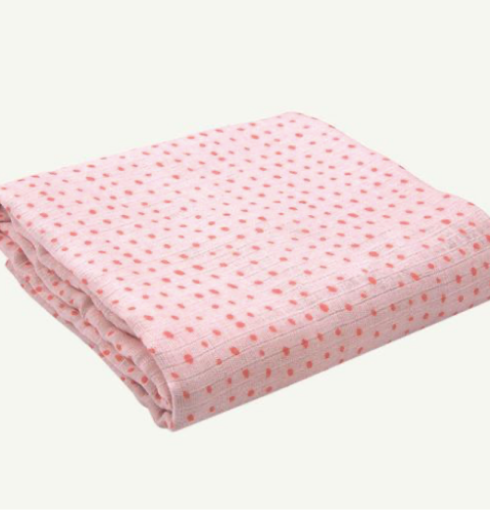 ORGANIC PINK DOT SWADDLE