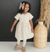 Load image into Gallery viewer, OATMEAL LINEN DRESS // BABY + TODDLER SIZES