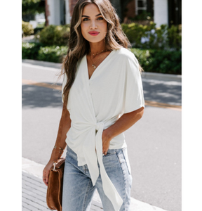 QUINN WRAP TOP // OTHER COLORS