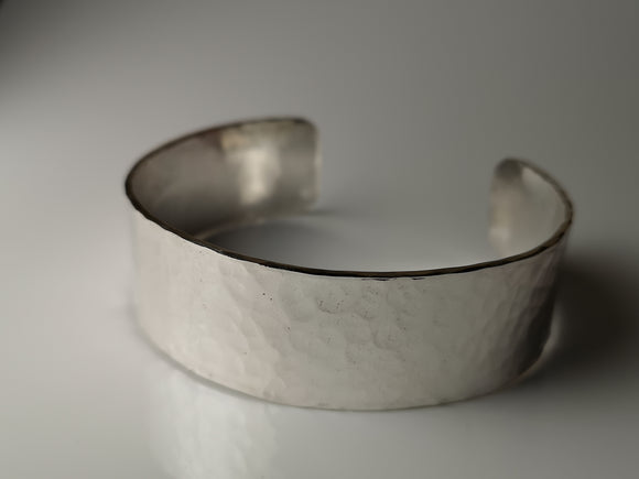 Wide Hammered Cuff
