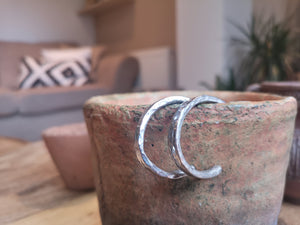 Sandcast Hoop Earrings