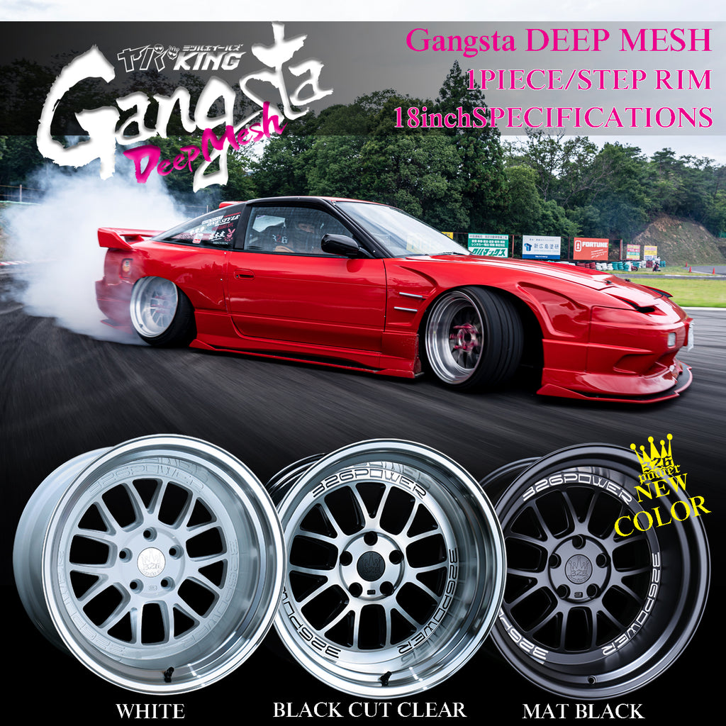 326POWER Yabaking Gangsta DEEP MESH Wheels