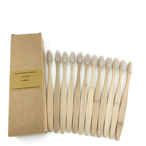 Bamboo Toothbrush Set