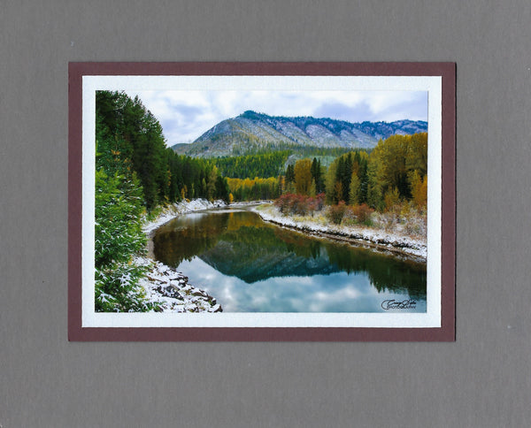 Handmade Photo Card of McDonald Creek West Glacier Blank Greeting Card