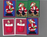 Handmade Fabric Beary Christmas Blank Gift Enclosure Set