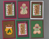 Handmade Fabric Chocolate Shoppe Christmas Blank Gift Enclosure Set