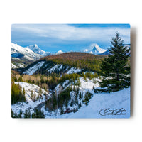 Snowy Mountains Over Glacier National Park, Montana 8 X 10 metal Print
