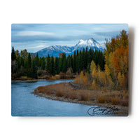 Fall Colors Along The North-fork of the Flathead River, Glacier National Park 8 X 10 Metal Print