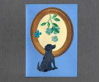 Handmade Custom Generic Shorthaired Dog Blank Greeting Card