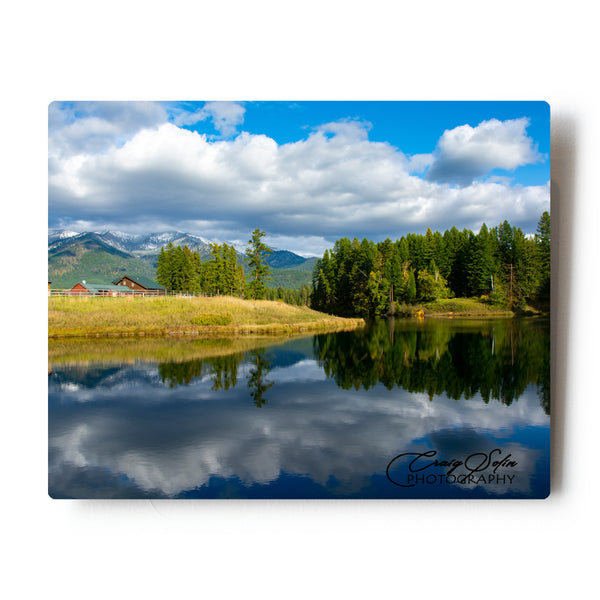 Storm Clearing Over The Creston Hatchery in Montana 8 X 10 Metal Print