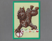 Handmade Fabric Have a Ball Bouvier des Flanders Dog Blank Greeting Card