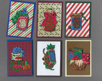 Handmade Fabric Holiday Gifts Christmas Blank Gift Enclosure Set