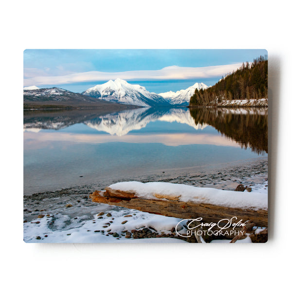 Lenticular Sunset Over Lake McDonald In Glacier National Park 8 X 10 Metal Print