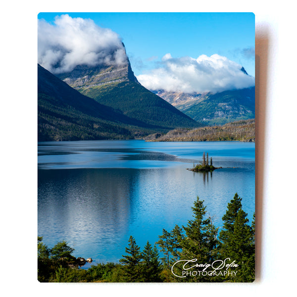 Wild Goose Island In Summer, Glacier National Park 8 X 10 Photographic Metal Print