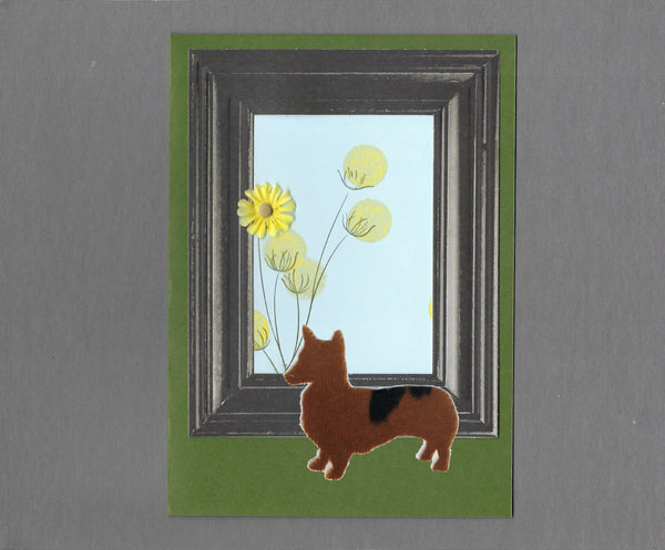 Handmade Custom Pembroke Welsh Corgi Dog Blank Greeting Card