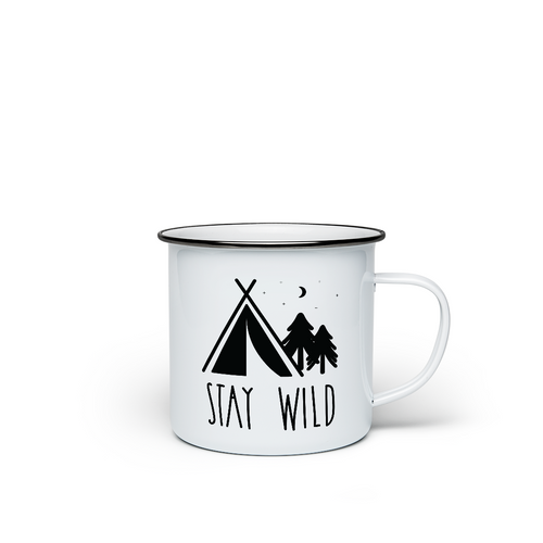 Enamel mug 'Stay Wild' - the 1 million star hotel campfire mug
