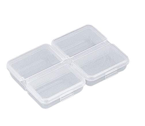 Meiho Accessories Box, 95x68x18 - 4 Comp - Clear