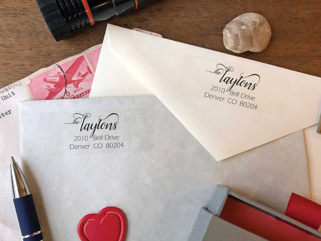 Belles Lettres Calligraphy Return Address Labels