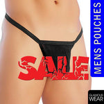 SEXY MENS VALENTINES FUNNY NOVELTY POUCH BRIEF THONGS ONESIZE FUN STAG NIGHT HEN