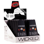 Wicked Sensual Care Flavoured 10 Pack Sampler Box Black 3ml - AngelsandSinners