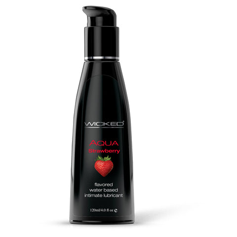 Wicked Sensual Care Aqua Strawberry Transparent 120ml - AngelsandSinners