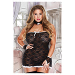 Baci Lingerie Dress Gloves Collar Set - AngelsandSinners