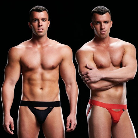 Envy Low Rise Jock Strap Black | Red
