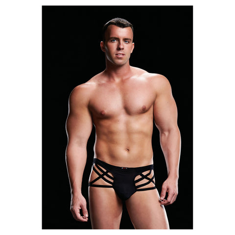 Envy Low Rise Thong Black S/M - AngelsandSinners