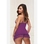 Baci Lingerie Mini Lace Chemise Purple - AngelsandSinners