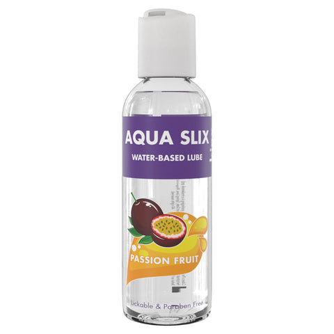 Kinx Aqua Slix Flavoured Water-Based Lubricant Passion Fruit 100ml - AngelsandSinners