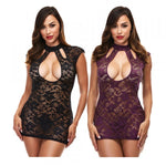 Baci Lingerie Lace Keyhole Mini Dress - AngelsandSinners