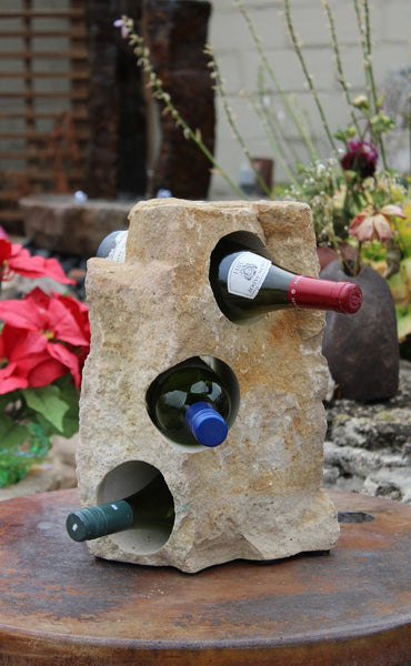 Light beige Limestone Wine Rack 14